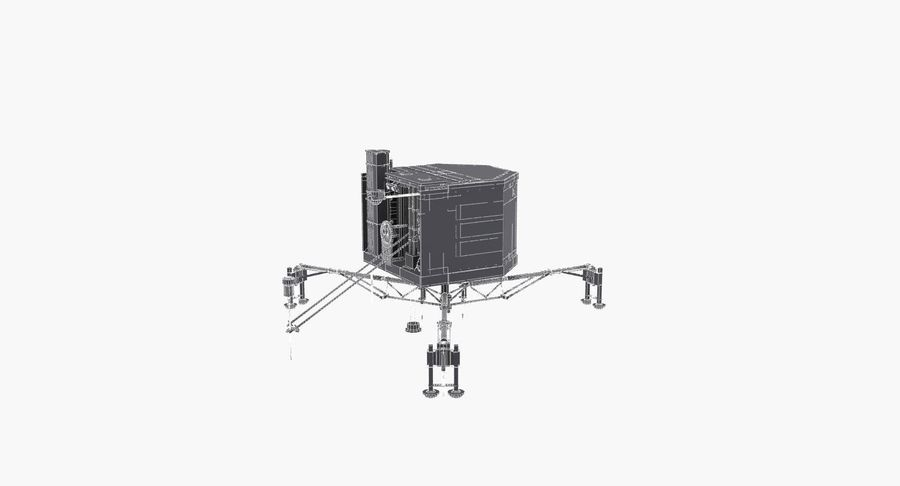 Satellietschotel royalty-free 3d model - Preview no. 10
