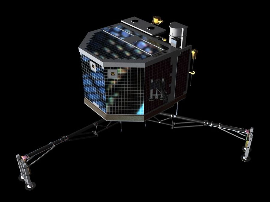 Satellietschotel royalty-free 3d model - Preview no. 8