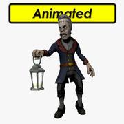 Zombie Butler 3d model