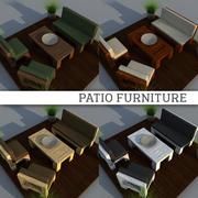 Mobília do pátio 3d model