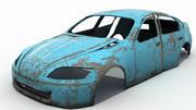 錆びた廃車 3d model