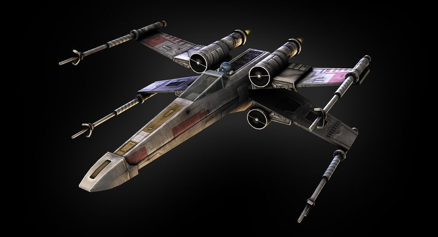 X-Wing Fighter royalty-free 3d model - Preview no. 3