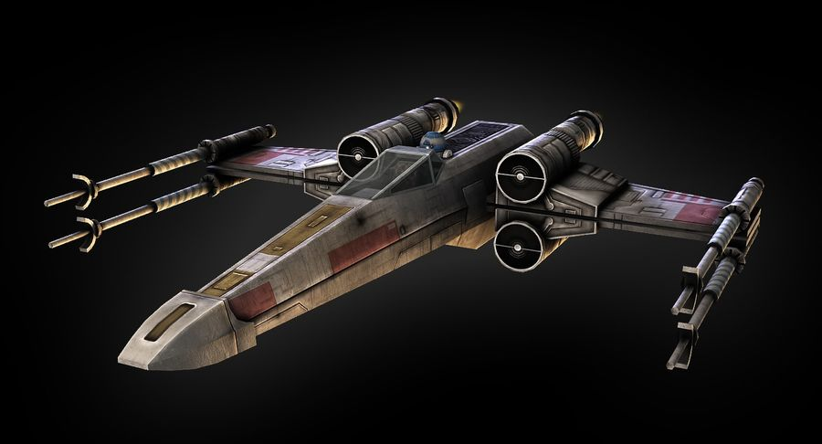 X-Wing Fighter royalty-free 3d model - Preview no. 4