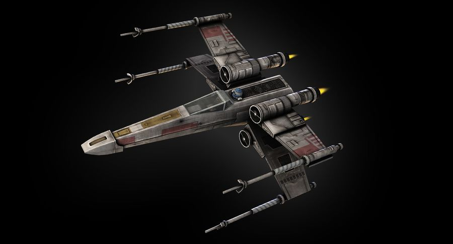 X-Wing Fighter royalty-free 3d model - Preview no. 5