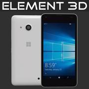 Element 3D Microsoft Lumia 550 Beyaz 3d model