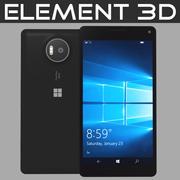 Element 3D Microsoft Lumia 950 XL Siyah 3d model