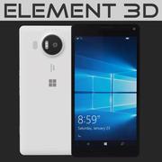Element 3D Microsoft Lumia 950 XL Beyaz 3d model