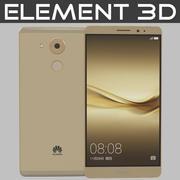 Element 3D Huawei Mate 8 Altın 3d model
