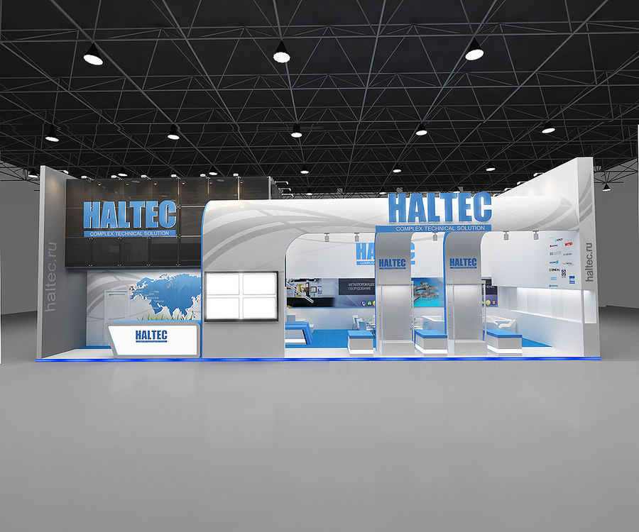 exhibition booth royalty-free 3d model - Preview no. 2