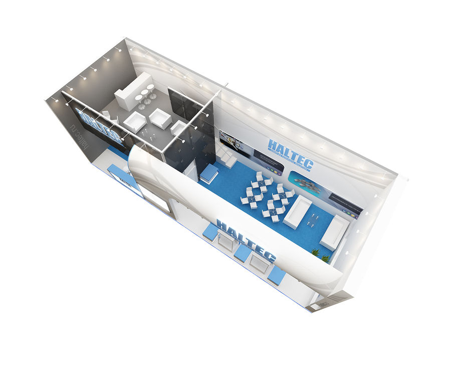 exhibition booth royalty-free 3d model - Preview no. 4
