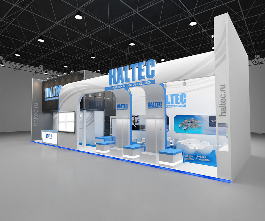 exhibition booth royalty-free 3d model - Preview no. 1