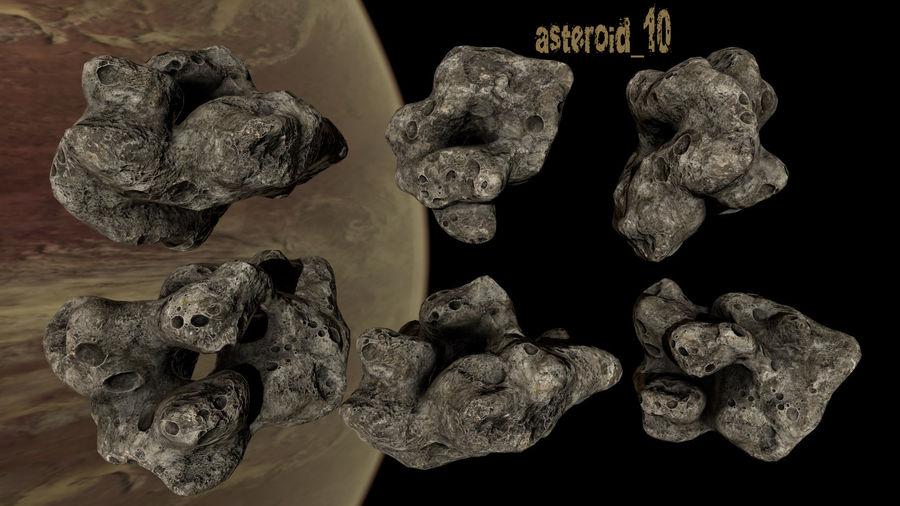 Conjunto de asteroides royalty-free modelo 3d - Preview no. 13