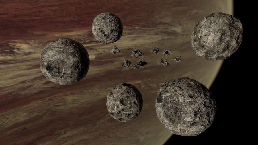 Conjunto de asteroides royalty-free modelo 3d - Preview no. 2