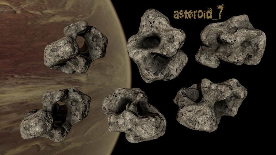 Conjunto de asteroides royalty-free modelo 3d - Preview no. 10