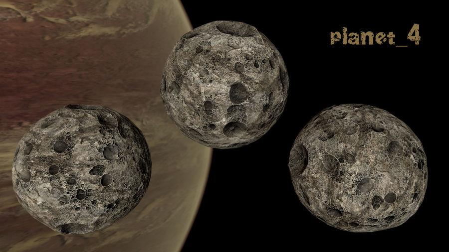 Conjunto de asteroides royalty-free modelo 3d - Preview no. 17