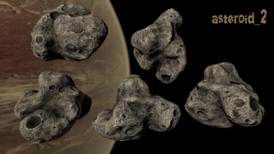 Conjunto de asteroides royalty-free modelo 3d - Preview no. 5