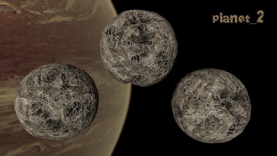 Conjunto de asteroides royalty-free modelo 3d - Preview no. 15