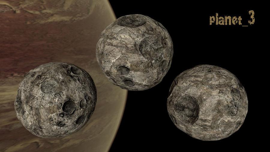 Conjunto de asteroides royalty-free modelo 3d - Preview no. 16