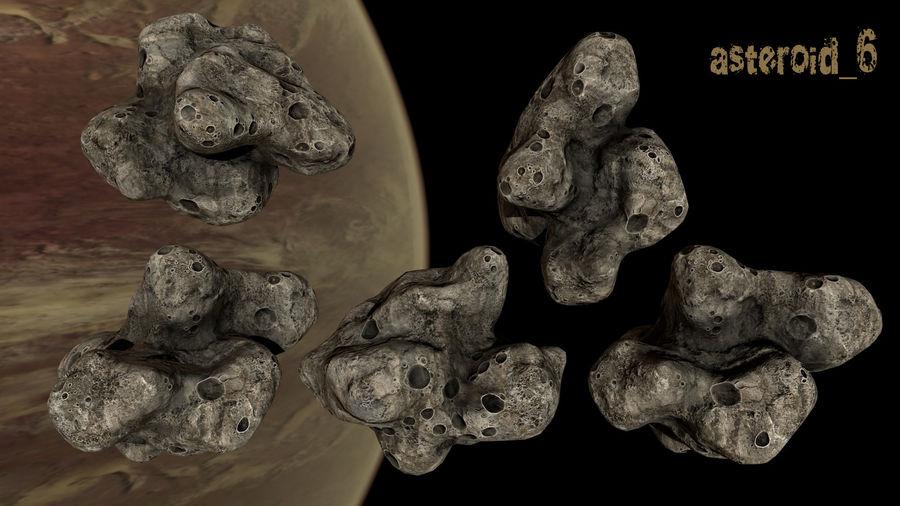 Conjunto de asteroides royalty-free modelo 3d - Preview no. 9