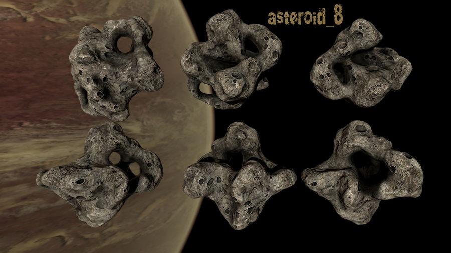 Conjunto de asteroides royalty-free modelo 3d - Preview no. 11