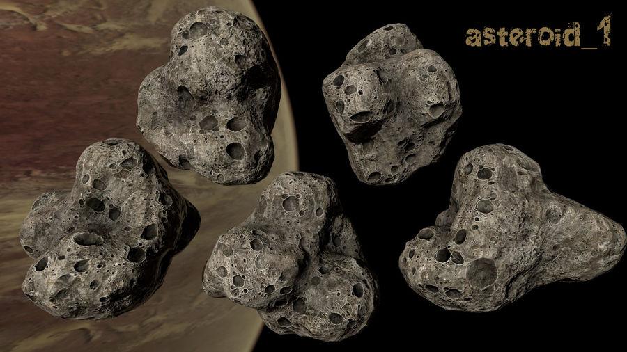 Conjunto de asteroides royalty-free modelo 3d - Preview no. 4