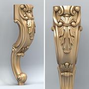 Мебельная ножка 005 3d model