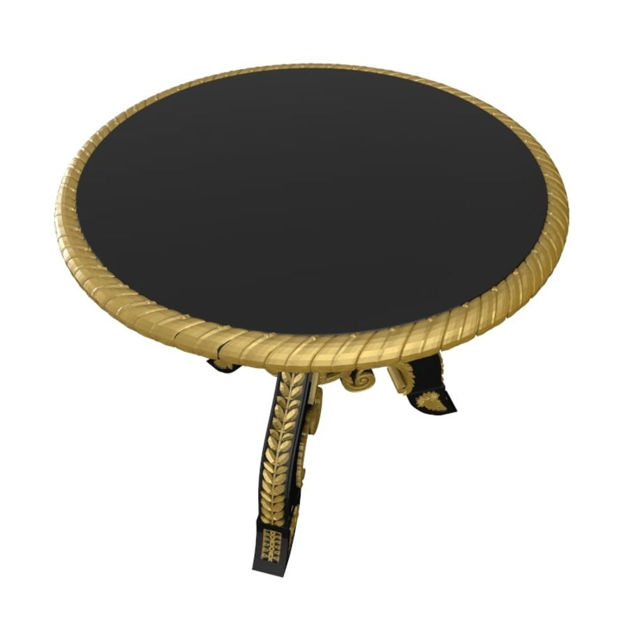 Antique Baroque Center Table royalty-free 3d model - Preview no. 4