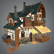 Low Poly Medieval House 3d model