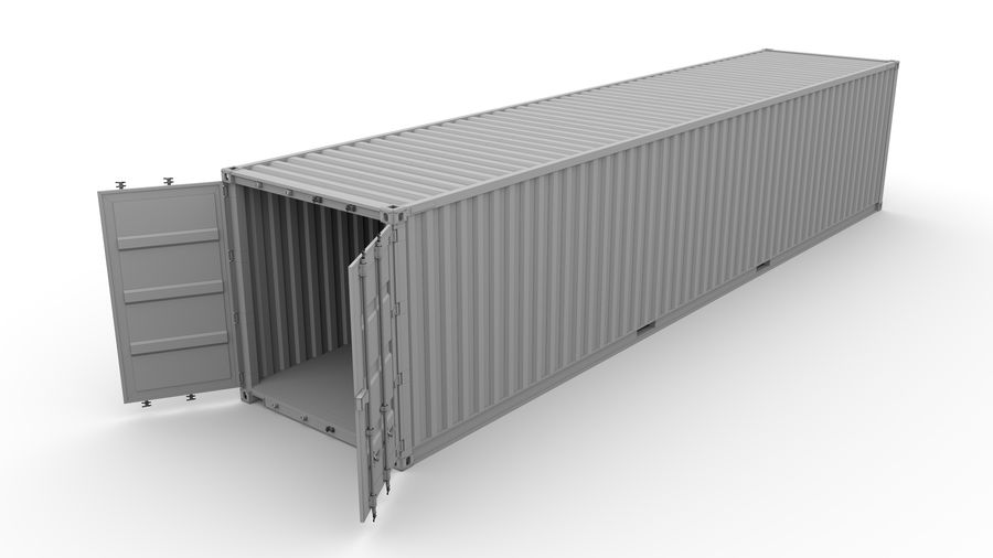 Shipping container K Line royalty-free 3d model - Preview no. 8