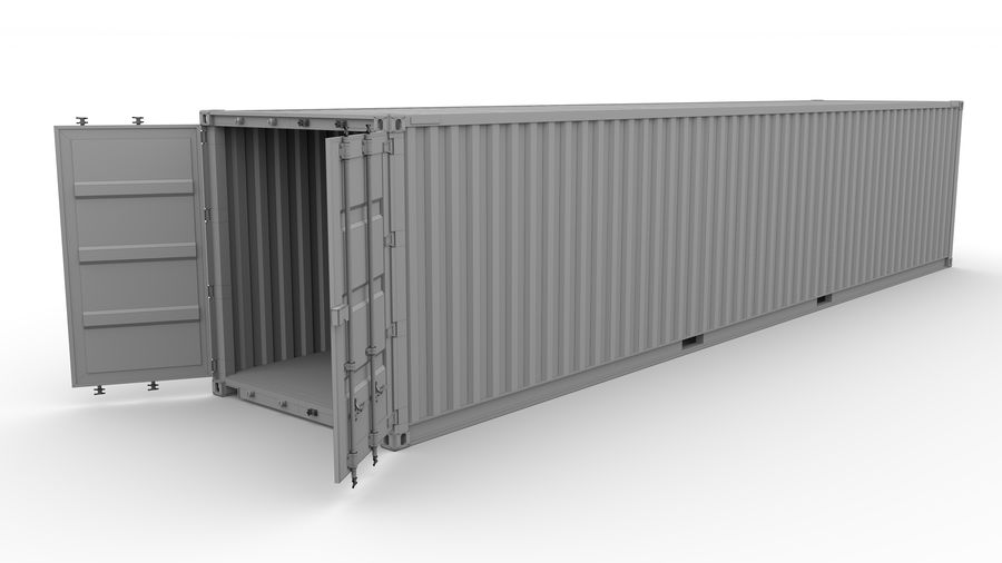 Shipping container K Line royalty-free 3d model - Preview no. 9