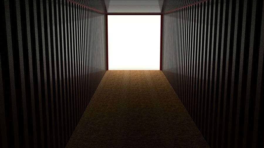 Shipping container K Line royalty-free 3d model - Preview no. 7