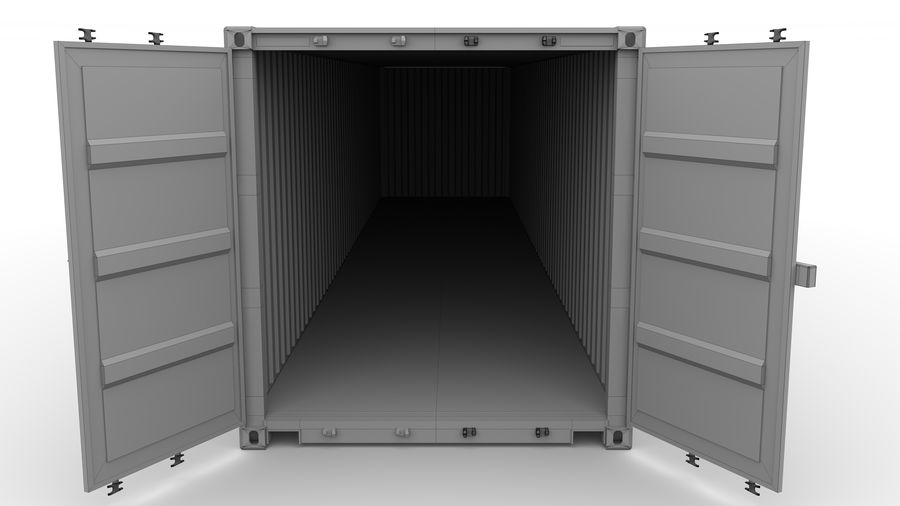 Shipping container K Line royalty-free 3d model - Preview no. 10