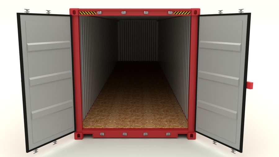 Shipping container K Line royalty-free 3d model - Preview no. 6