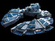 Nave espacial de ciencia ficción modelo 3d