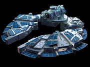 Sci-Fi Space Ship 3d model