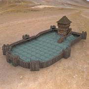 Donjon et tour du château 3d model