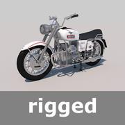 Rigged Moto Guzzi Speciale V7 750 1960 3d model