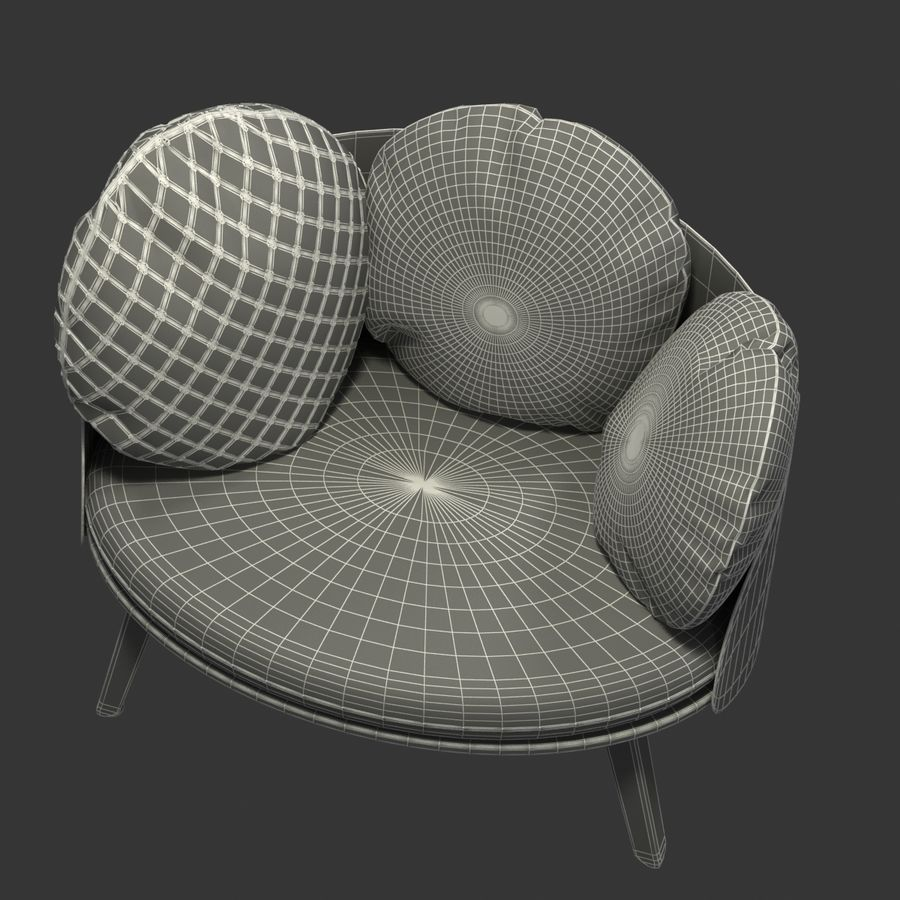 Nubilo Stuhl von Petite Furniture royalty-free 3d model - Preview no. 10