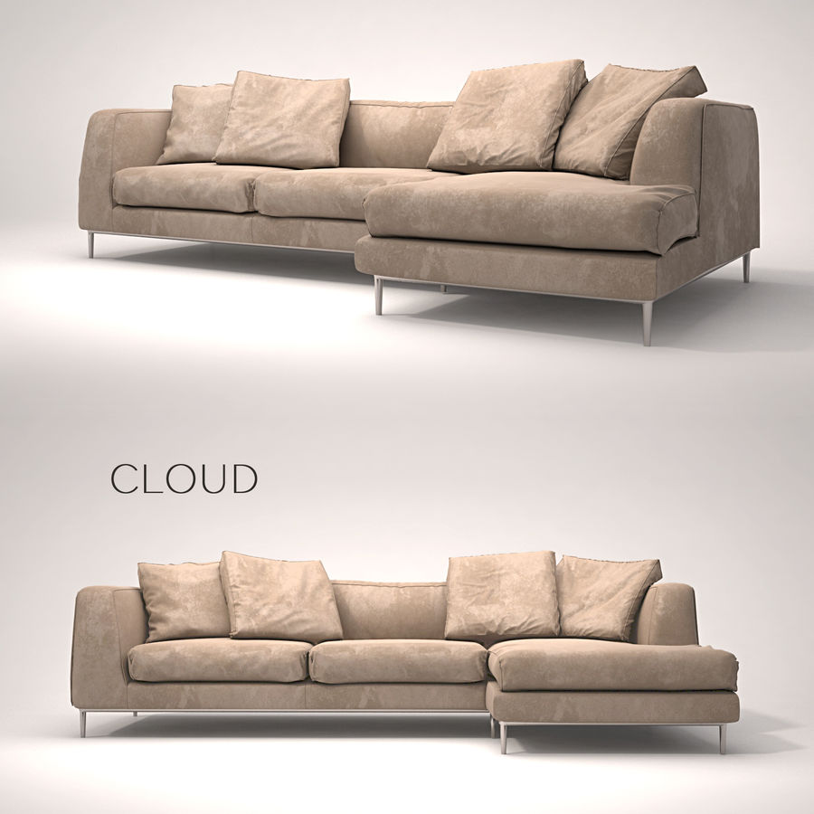 Cloud   Sofa royalty-free 3d model - Preview no. 1
