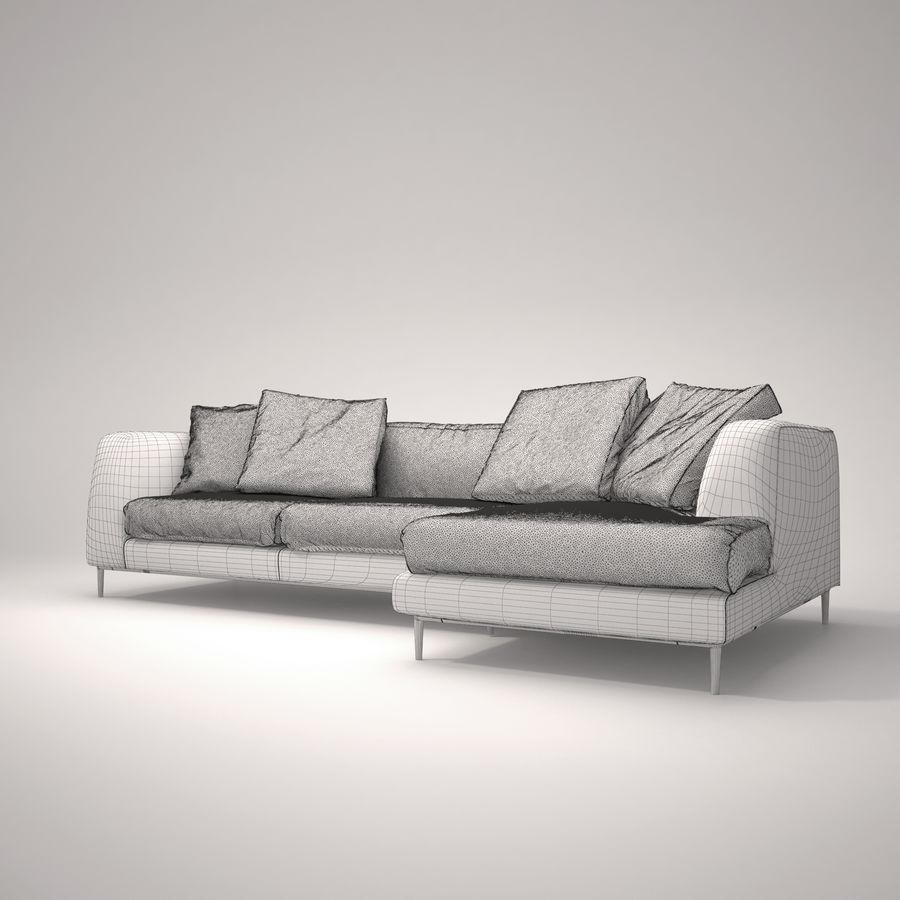 Cloud   Sofa royalty-free 3d model - Preview no. 5
