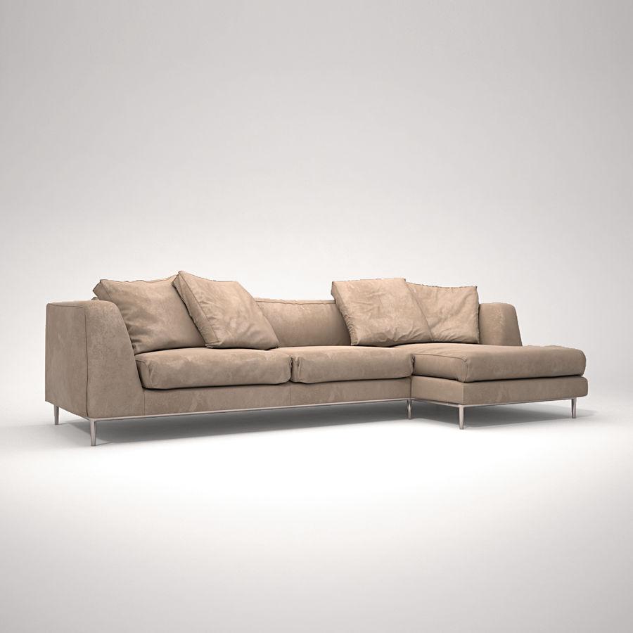 Cloud   Sofa royalty-free 3d model - Preview no. 3