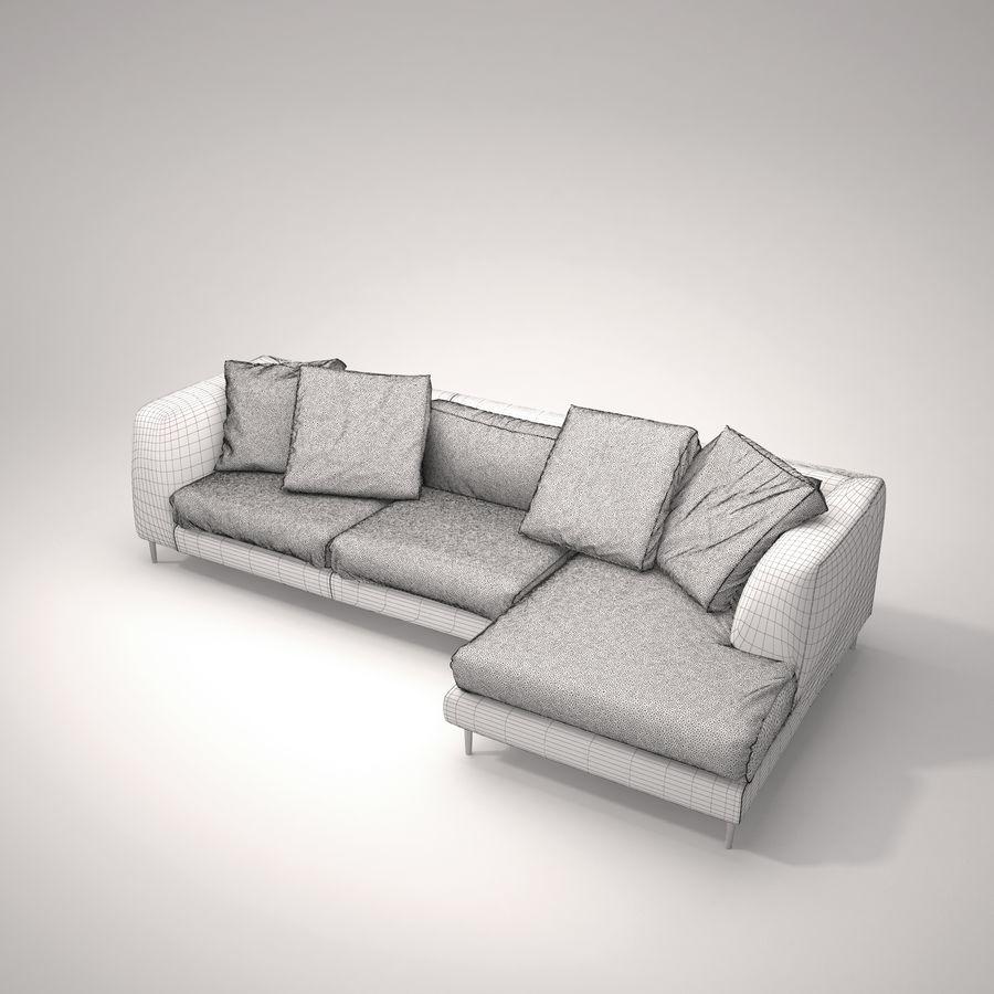 Cloud   Sofa royalty-free 3d model - Preview no. 4
