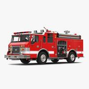 Fire Truck Apparatus 4 3D Model 3d model