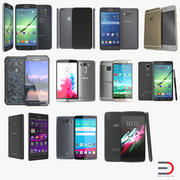휴대폰 컬렉션 3d model