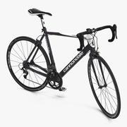 Road Bike Cannondale riggad 3D-modell 3d model