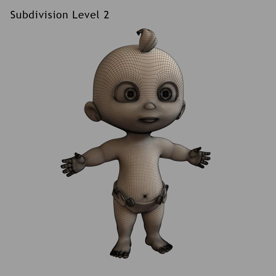 Мультипликационный ребенок с выражениями лица royalty-free 3d model - Preview no. 25
