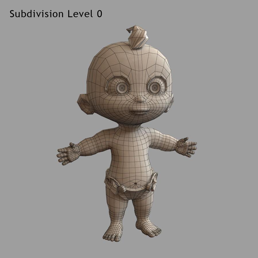 Мультипликационный ребенок с выражениями лица royalty-free 3d model - Preview no. 23