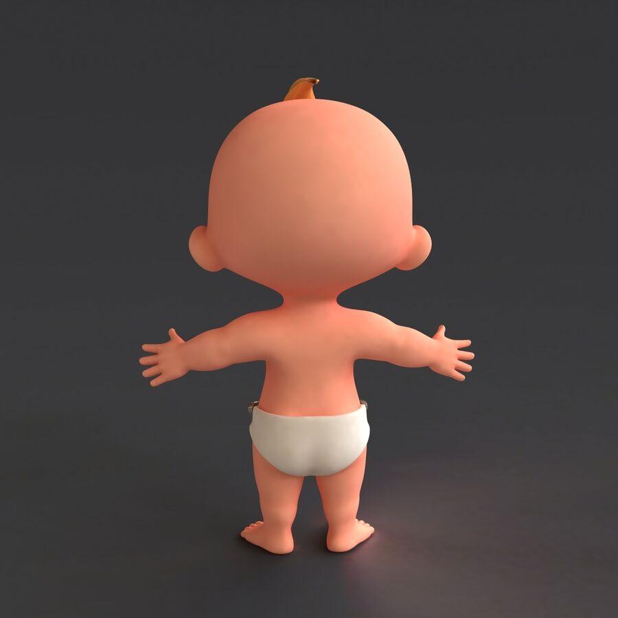 Мультипликационный ребенок с выражениями лица royalty-free 3d model - Preview no. 5
