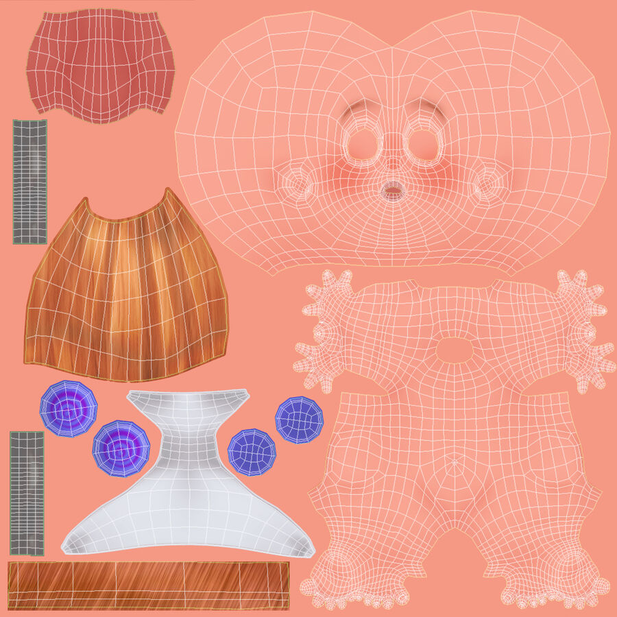 Dessin animé, bébé, à, expressions royalty-free 3d model - Preview no. 27