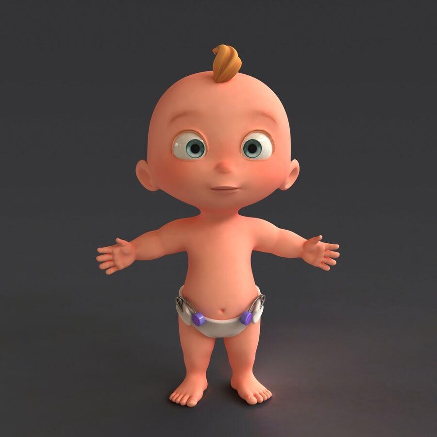 Мультипликационный ребенок с выражениями лица royalty-free 3d model - Preview no. 4